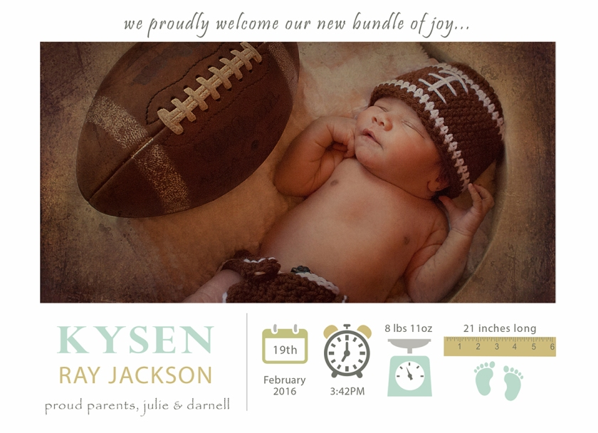 5x7kysen birth announcement copy